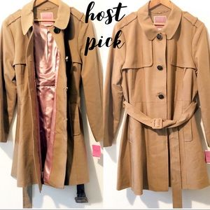kate spade new york classic trench coat XL NWT
